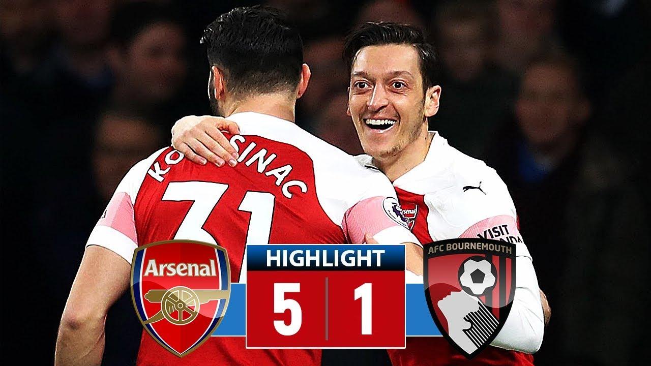 Arsenal vs Bournemouth 5-1 Goals & Full Highlights – 2019