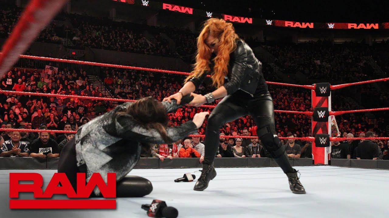 Becky Lynch attacks Stephanie McMahon – RAW, Feb. 4 2019