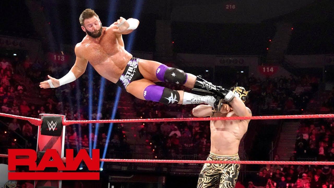 Zack Ryder & Curt Hawkins vs Lucha House Party – RAW, Feb. 18, 2019