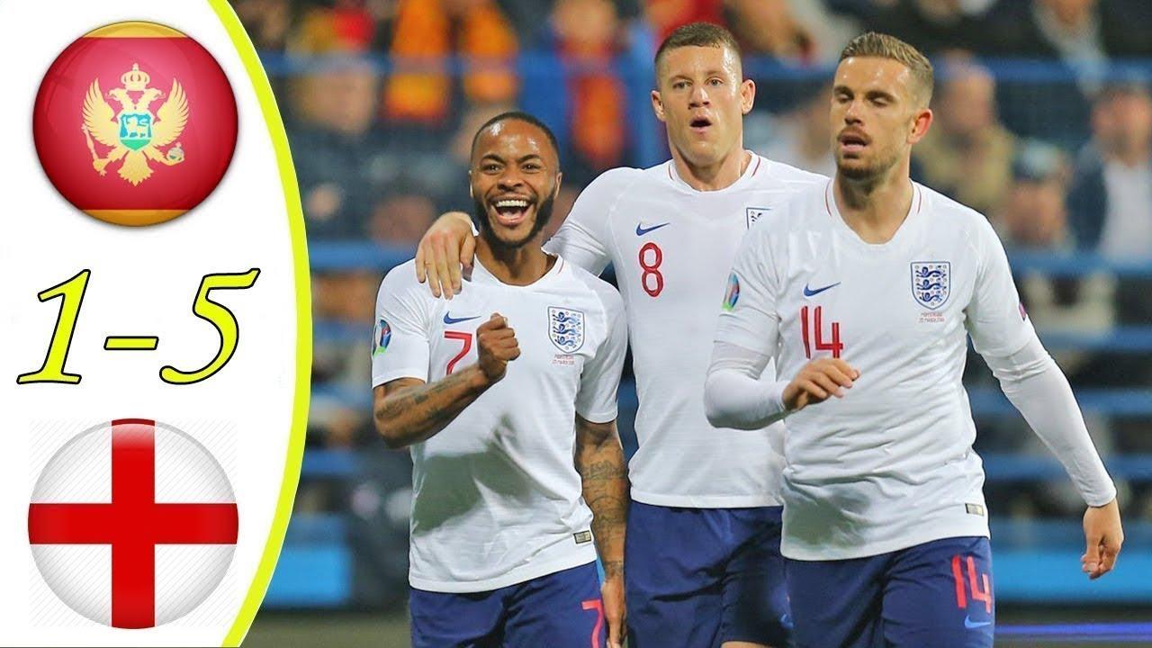 Montenegro vs England 1-5 Goals & Full Highlights – 2019