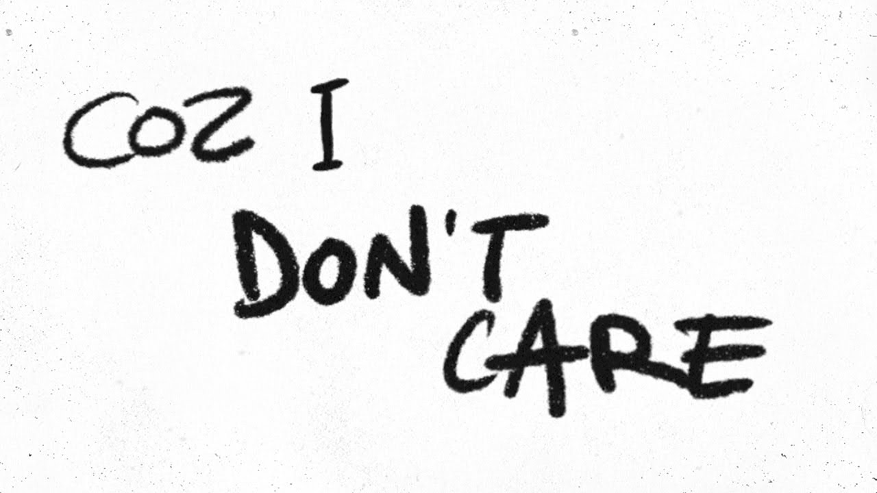 Ed Sheeran ft Justin Bieber - I Don't Care [Official Lyric Video]