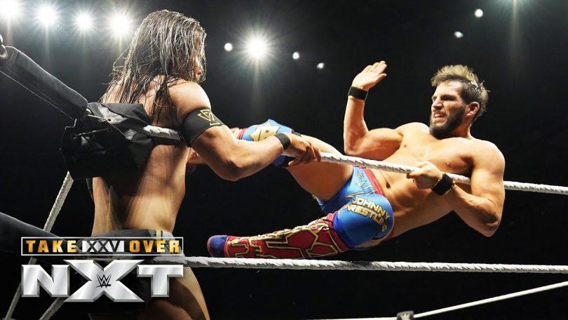 johnny gargano clashes with adam
