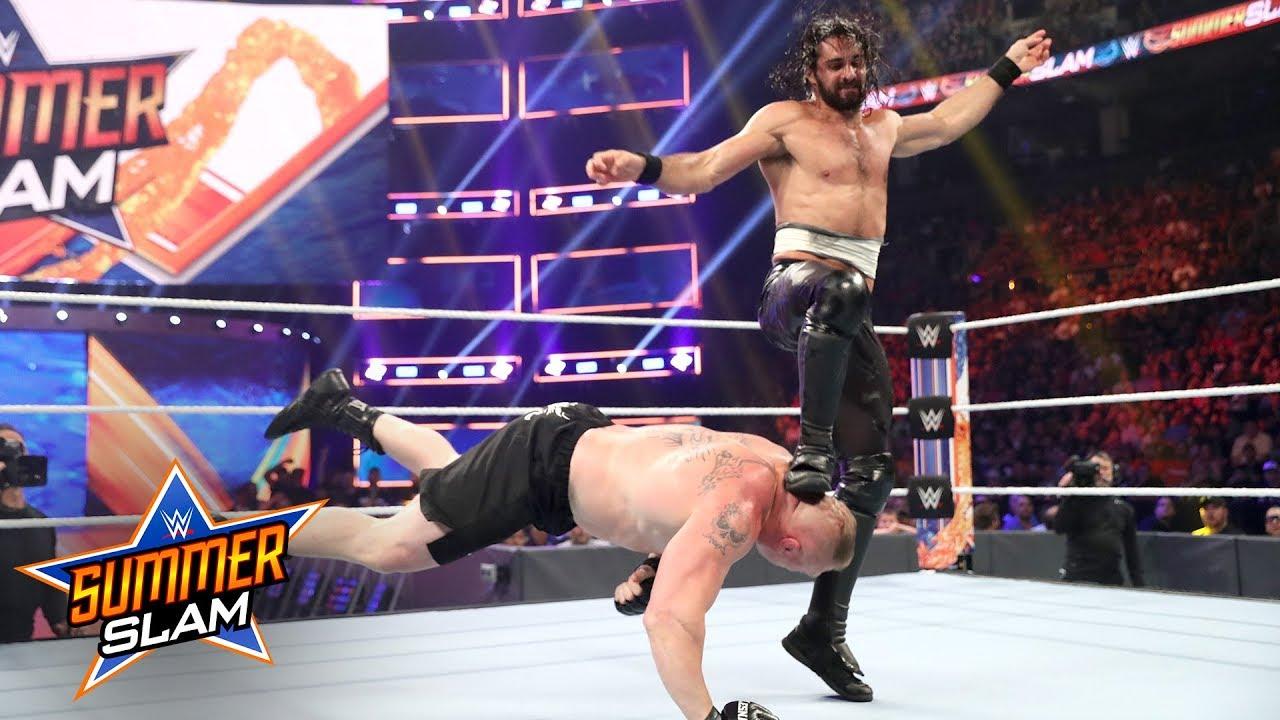 WWE SummerSlam 2019: Seth Rollins Vs. Brock Lesnar (WWE Universal Title Match)
