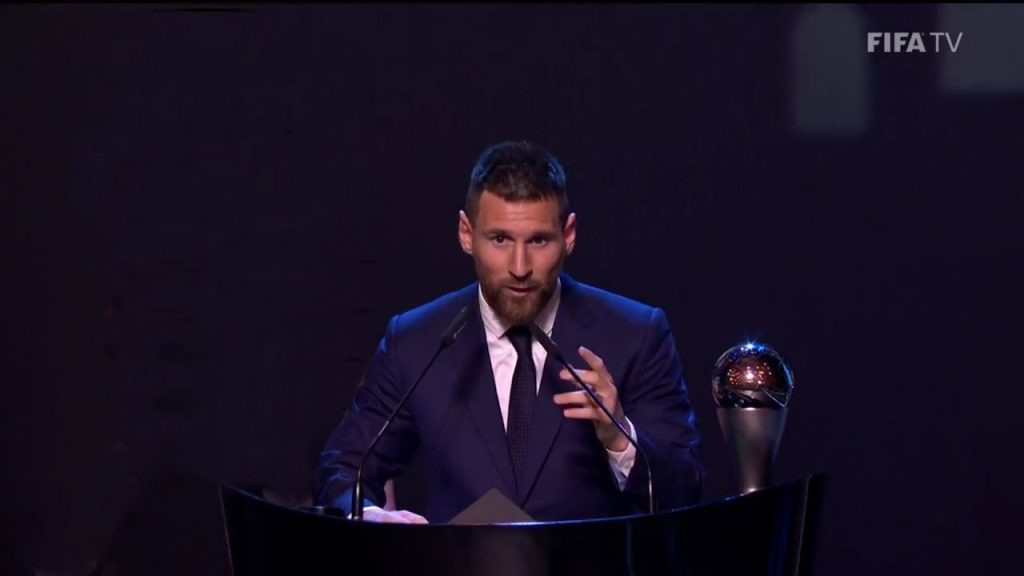 Lionel Messi wins best mens player of the year 2019