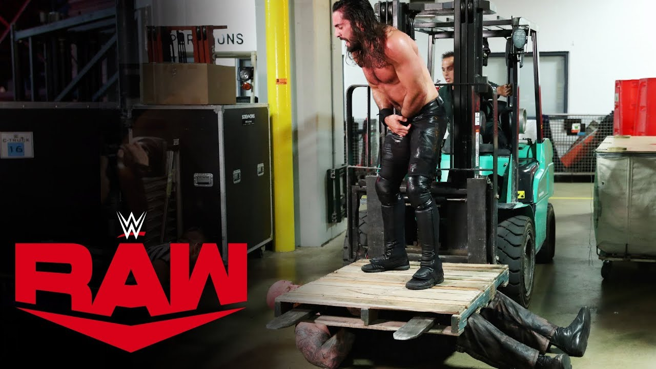 Seth Rollins Attacks Erick Rowan on Raw, Oct 28, 2019