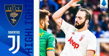 Lecce Vs Juventus 1-1 Goals and Full Highlights