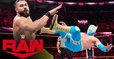 Sin Cara vs Andrade – Raw, Oct 21, 2019