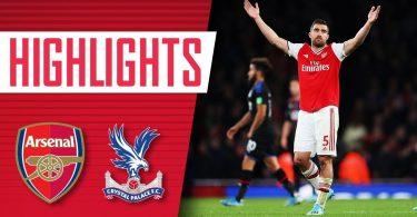 Arsenal Vs Crystal Palace 2-2 Goals and Full Highlights – 2019