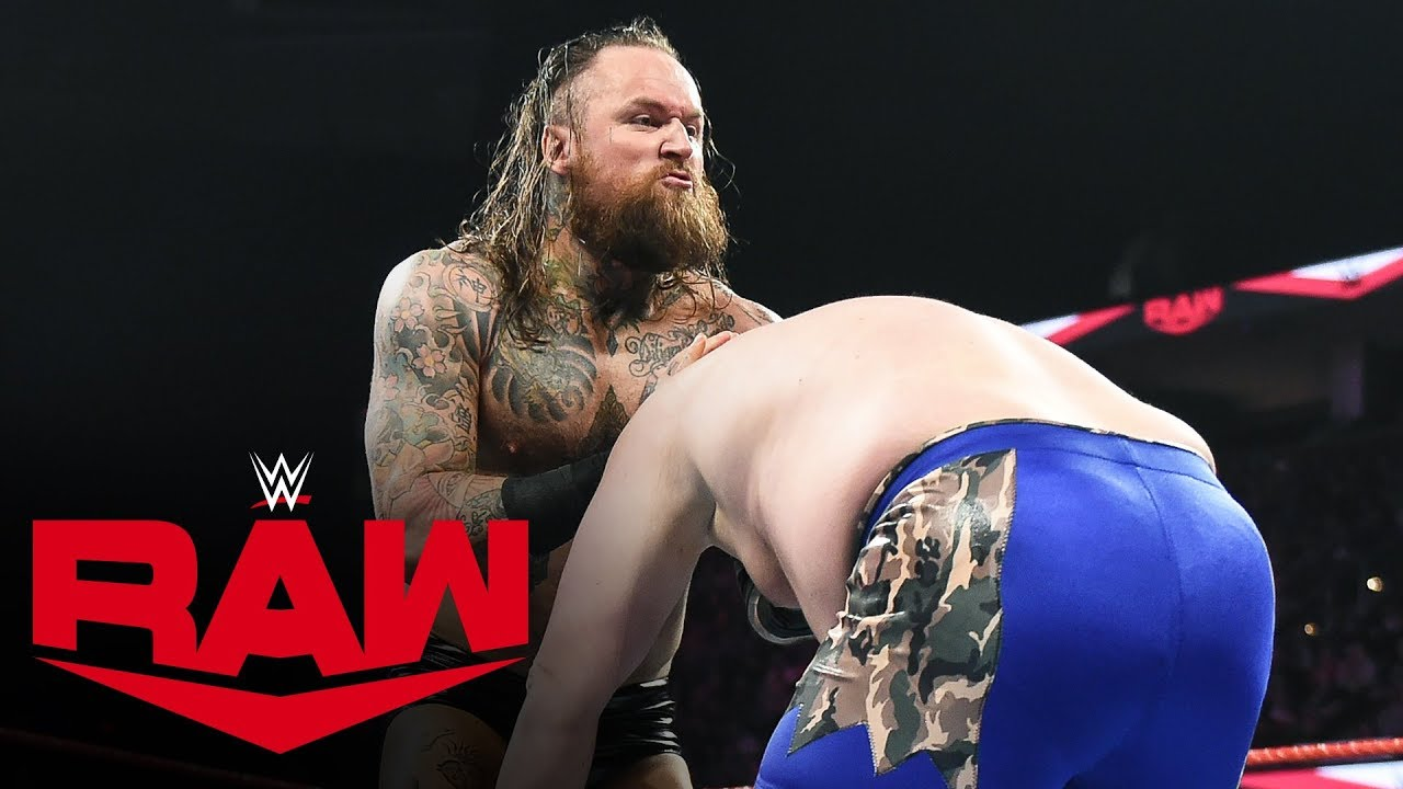 Watch Aleister Black demolishes a local competitor – Raw, Oct 21, 2019