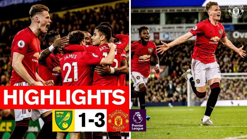 Norwich City Vs Manchester United 1-3 highlights