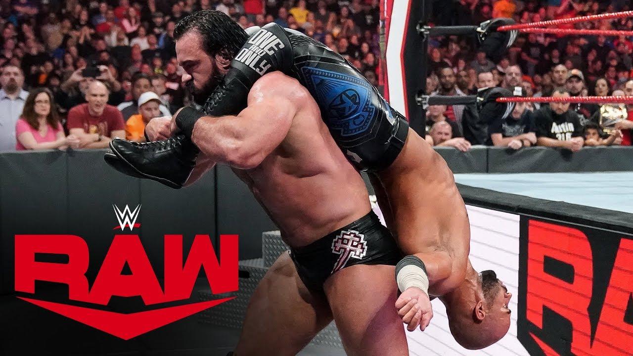 Ricochet vs. Drew McIntyre – Raw, Oct 21, 2019