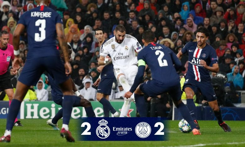 Real Madrid Vs PSG 2 2 Goals and Full Highlights – 2019