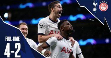 Tottenham Vs Olympiakos 4 2 Goals and Full Highlights – 2019