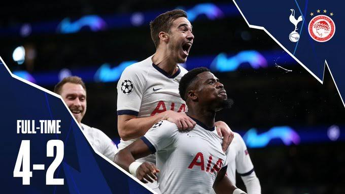 Tottenham Vs Olympiakos 4 2 Goals and Full Highlights – 2019