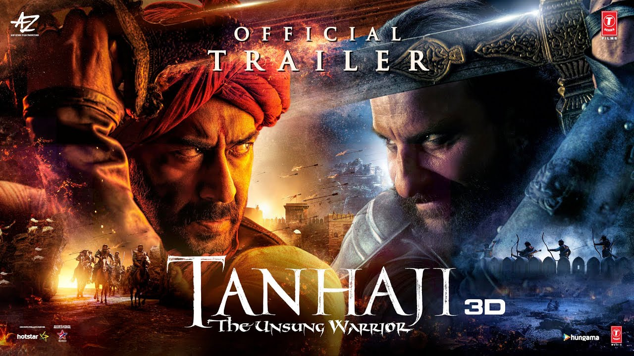 Tanhaji: The Unsung Warrior Official Trailer – 2020 Movie