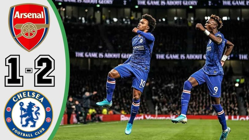 arsenal vs chelsea 1 2 goals and