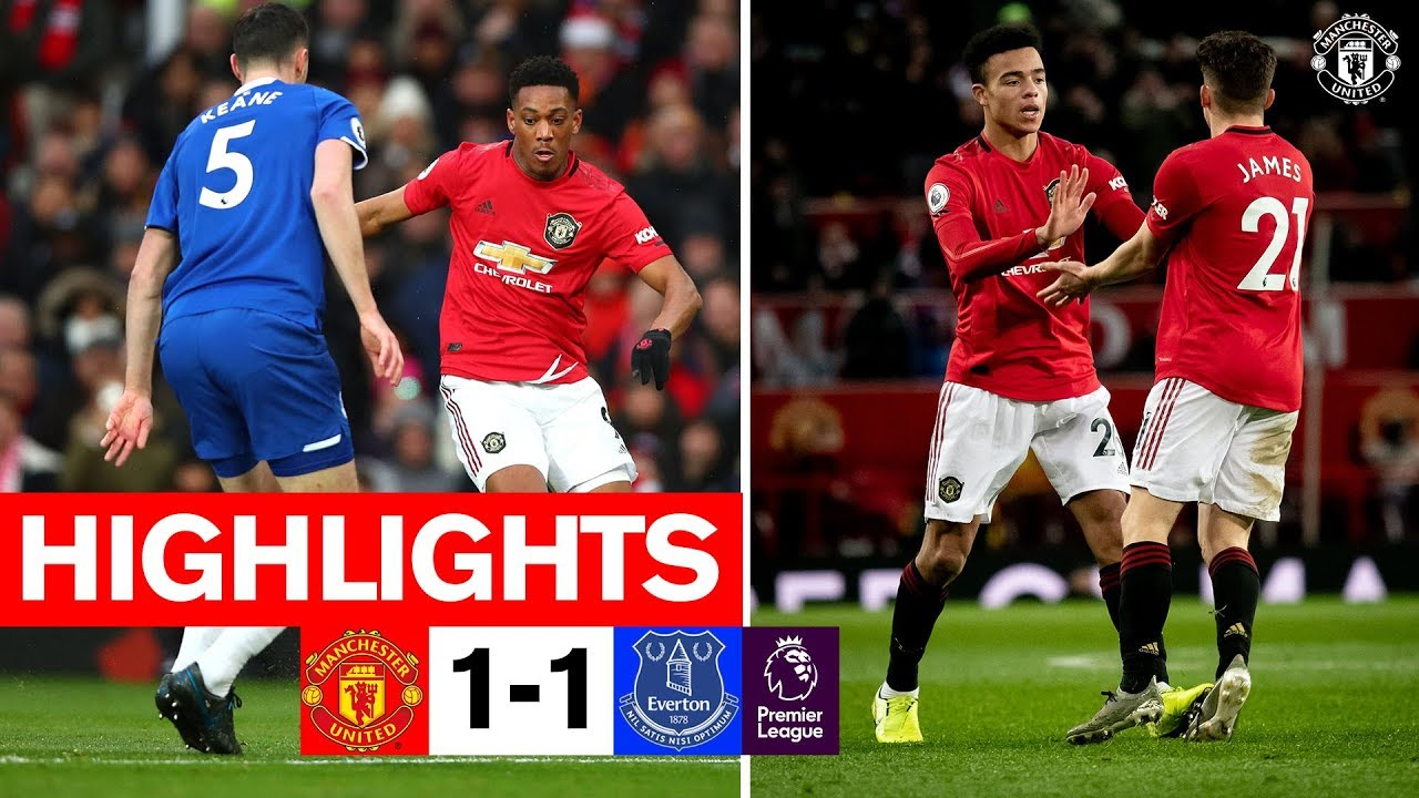 manchester united vs everton 1 1