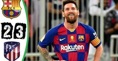 barcelona vs atletico madrid 2 3