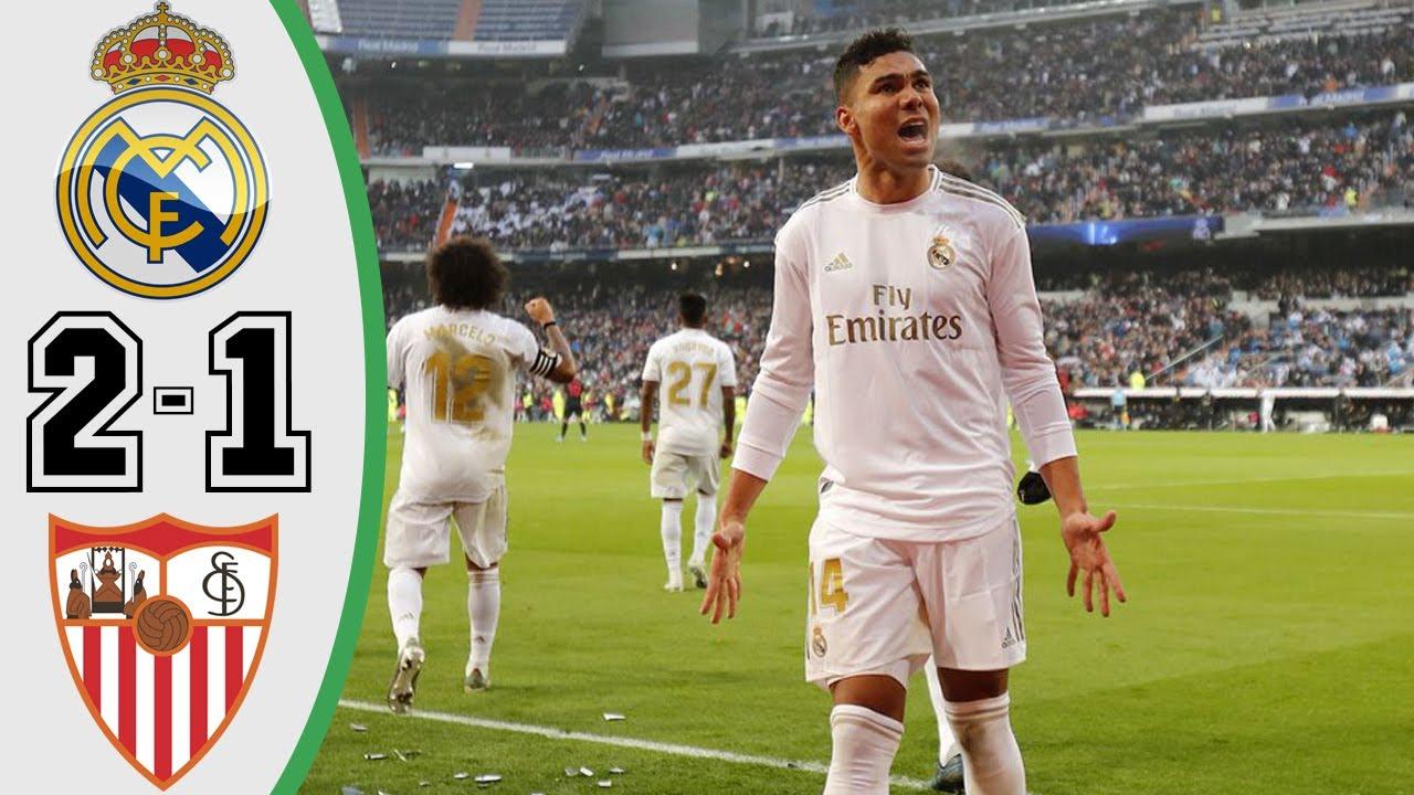 real madrid vs sevilla 2 1 goals