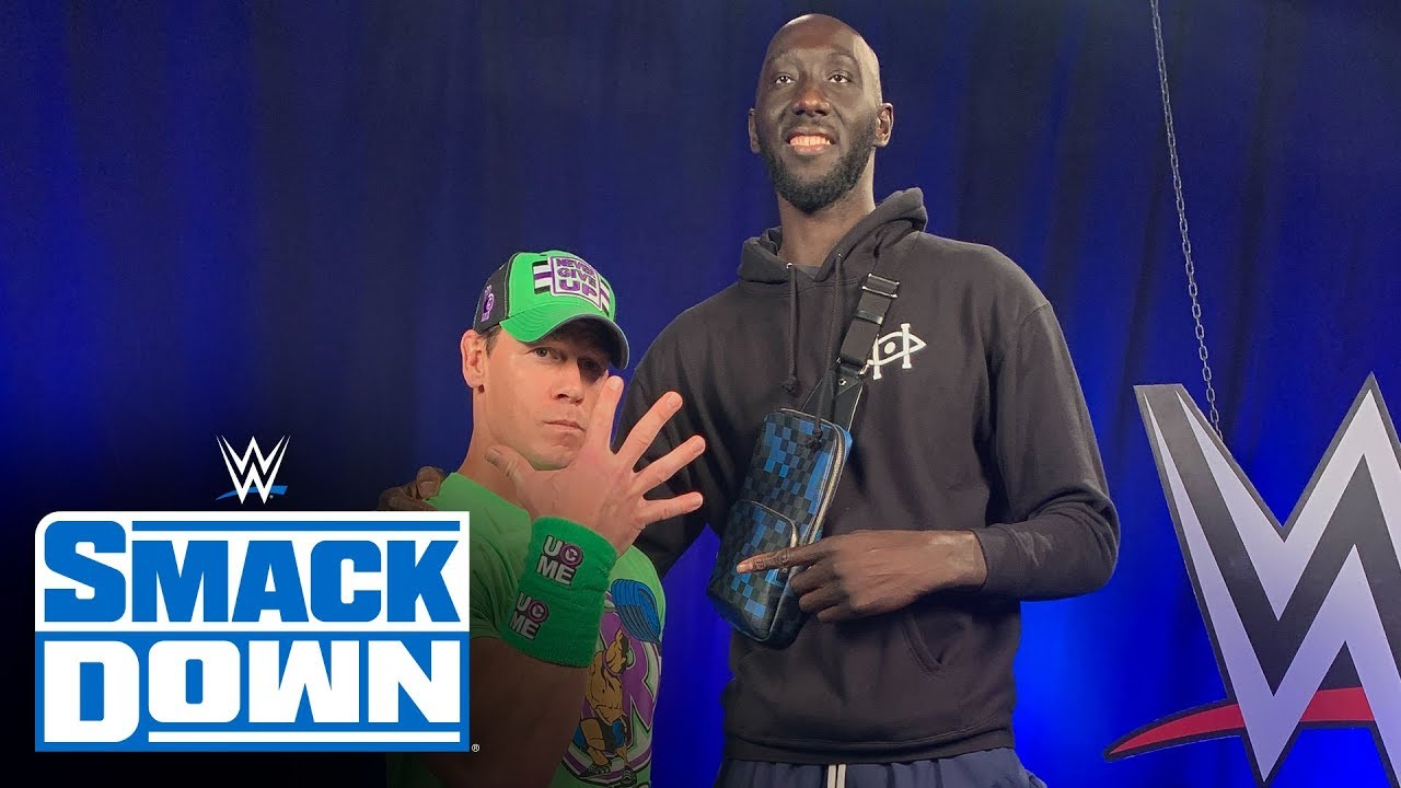 john cena and tacko fall meet at