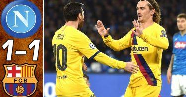 napoli vs barcelona 1 1 goals an
