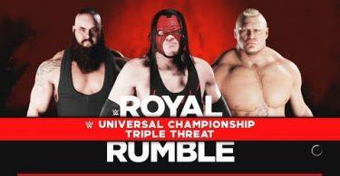 Lesnar vs Strowman vs Kane