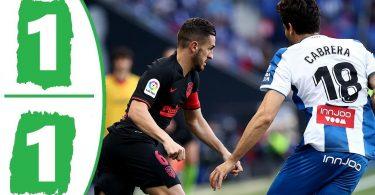 espanyol vs atletico madrid 1 1