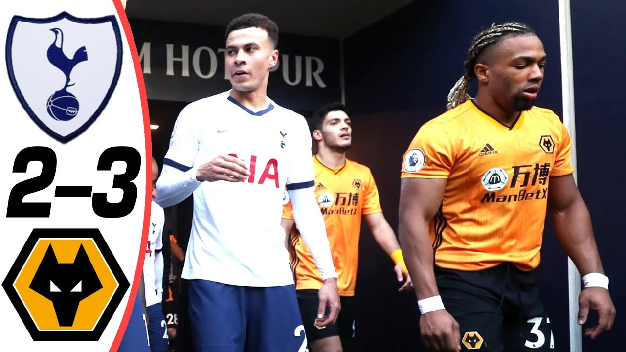 tottenham vs wolves 2 3 goals an
