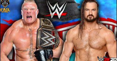 Brock Lesnar vs Drew McIntyre – WWE wrestlemania